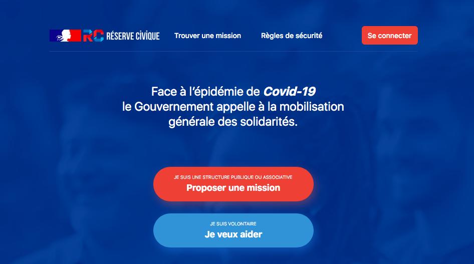 Capture d'écran issue du site jeveuxaider.gouv.fr